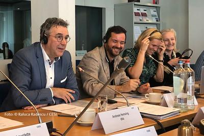 Andreas Hemsing (links) und Oliver Krzywanek, Referent dbb beamtenbund und tarifunion (Foto: © Raluca Radescu / CESI)